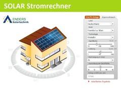 Solar Stromrechner, Energiesparen Solarenergie, Solarstrom Modul