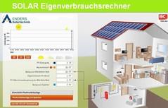 Solarenergie Rechner, Eigenverbrauch Solarstrom, Solarstromanlage AENDERS